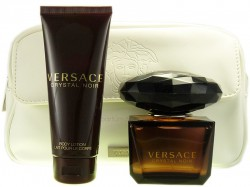 Versace Crystal Noir EdT 90ml + Body Lotion 100ml +  Kosmetiktasche