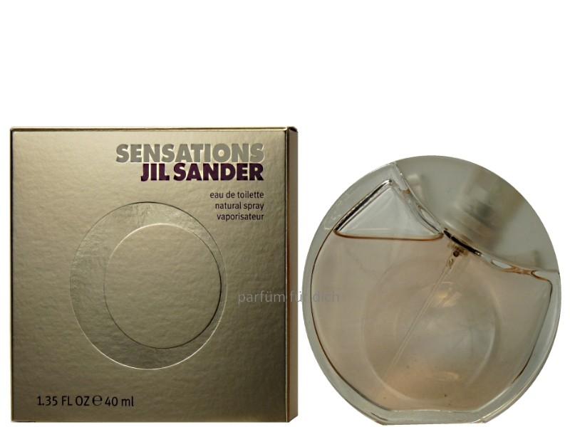 jil sander sensations eau de toilette 40ml damenparf m. Black Bedroom Furniture Sets. Home Design Ideas